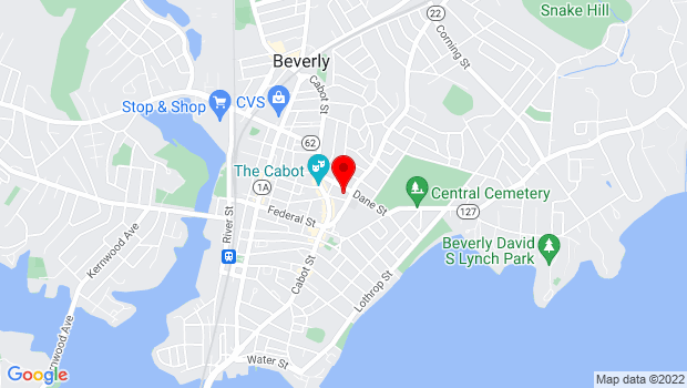 Google Map of 32 Essex St, Beverly, MA 01915