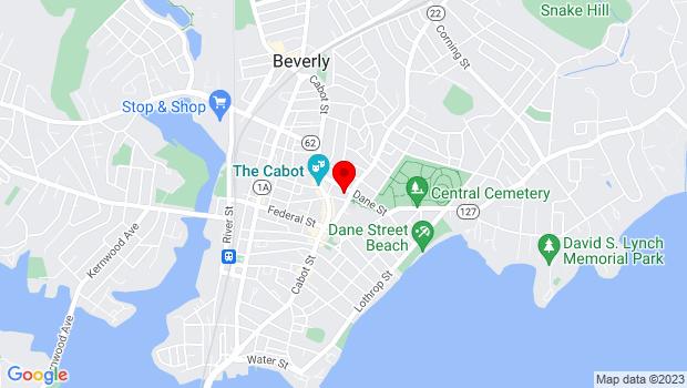 Google Map of 32 Essex Street, Beverly, MA 01915