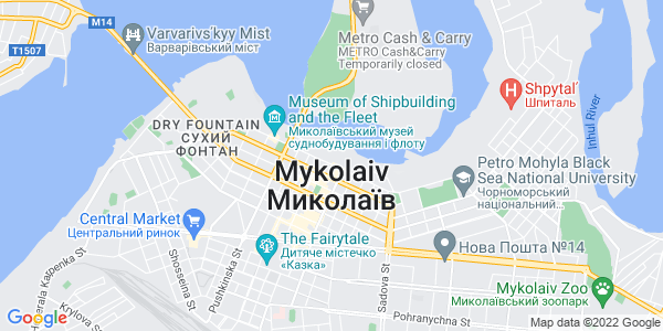 Google Map of 32+Nikolskaya+street%2C+Nikolaev%2C+Ukraine+54030