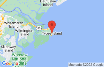 Map of Tybee Island - Savannah Beach