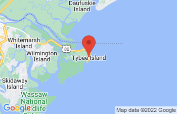 Map of Tybee Island - Savannah Beach