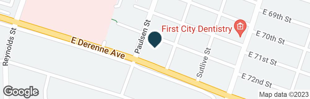 Google Map of700 E DE RENNE AVE