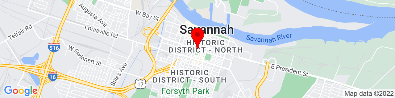 Google Map of 32.0770343, -81.0928645