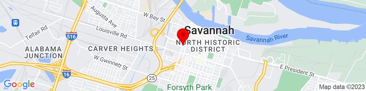 Google Map of 32.0777929, -81.09817269999999