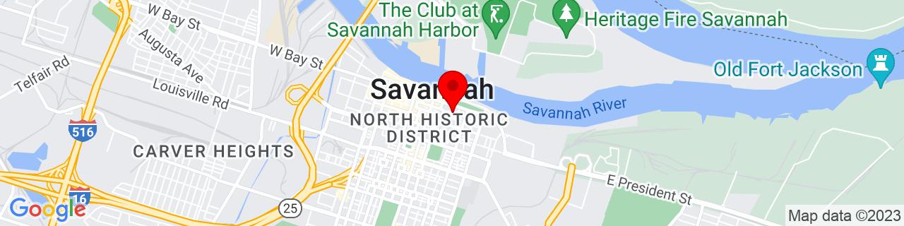 Google Map of 32.0792545, -81.08778910000001
