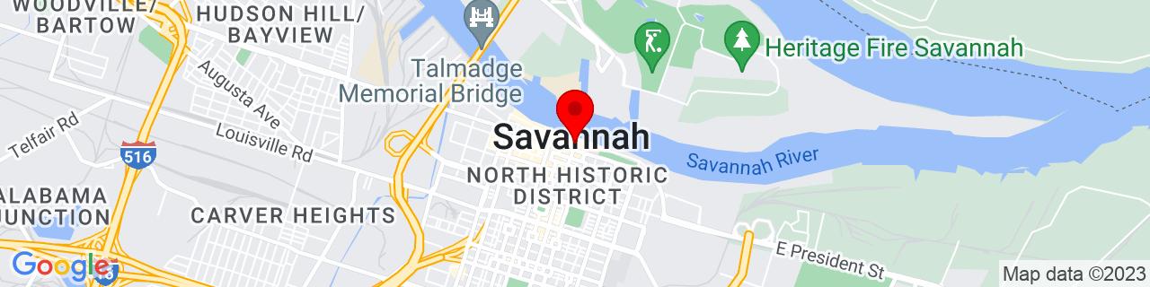 Google Map of 32.081156, -81.089884