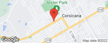 Map of 1020 W 2nd Ave in Corsicana