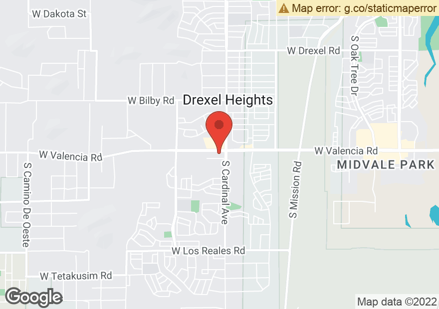 Google Map of 2929 W VALENCIA RD