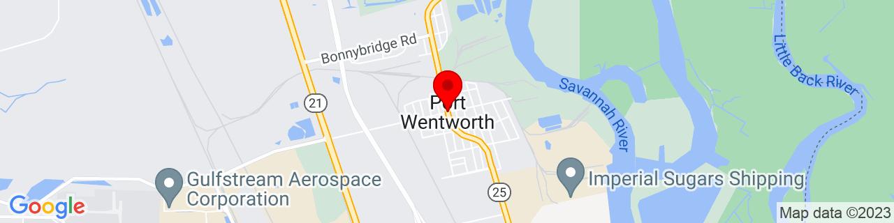 Google Map of 32.149092, -81.163168