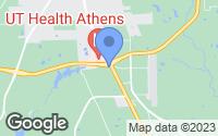 Map of Athens, TX