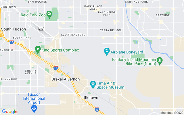 Dm air force base on the map