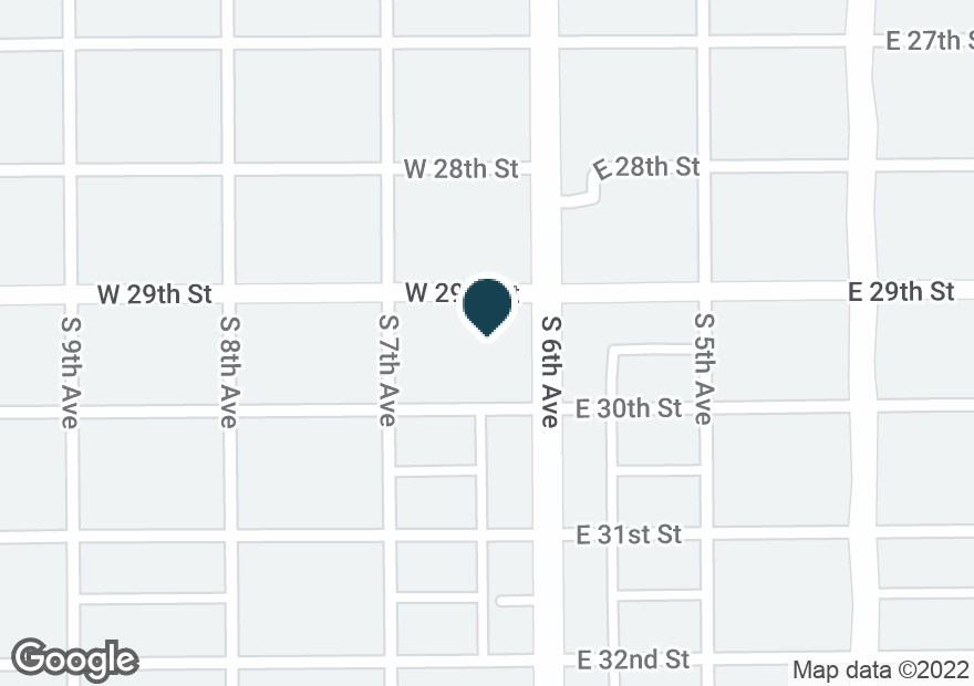 Google Map of1900 S 6TH AVE