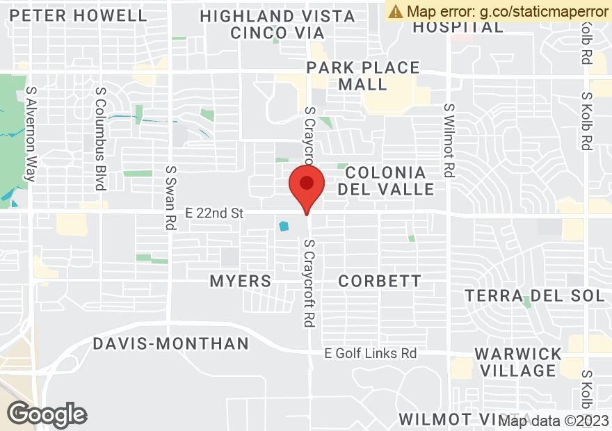 Google Map of 5480 E 22ND ST