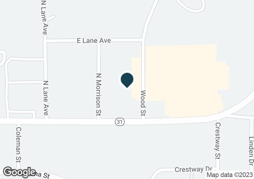 Google Map of1007 E TYLER ST