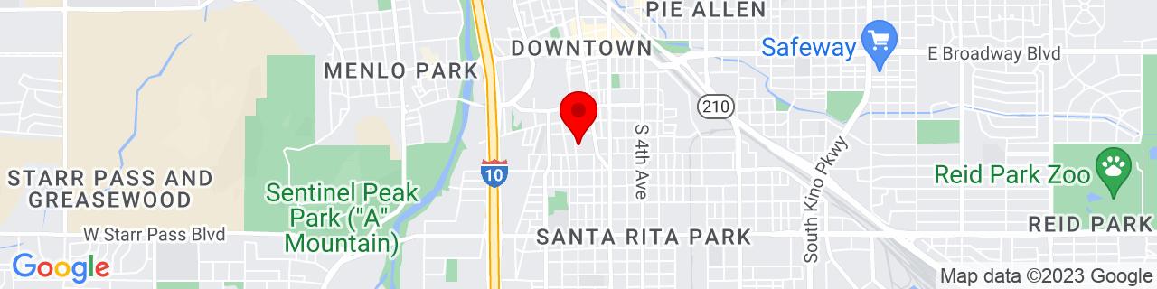 Google Map of 32.214047, -110.971493