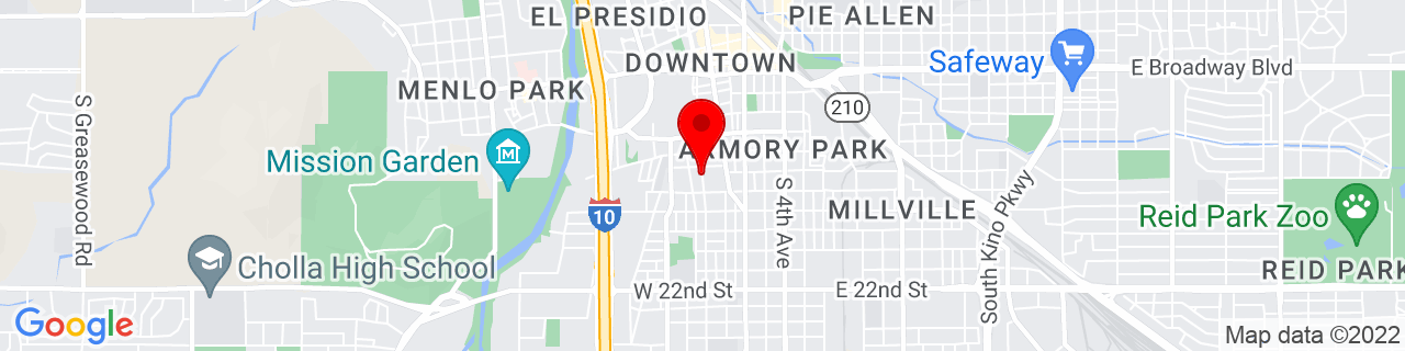 Google Map of 32.2144207, -110.9719257