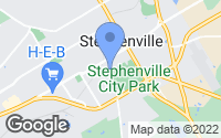 Map of Stephenville, TX