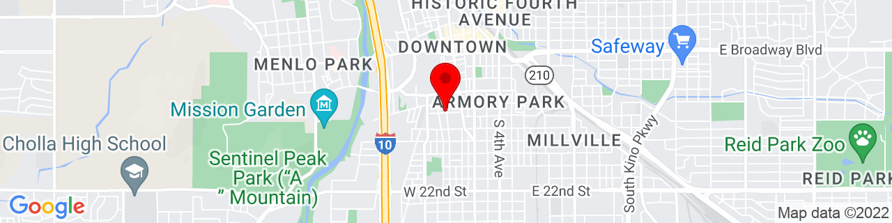 Google Map of 32.2150956, -110.9721163