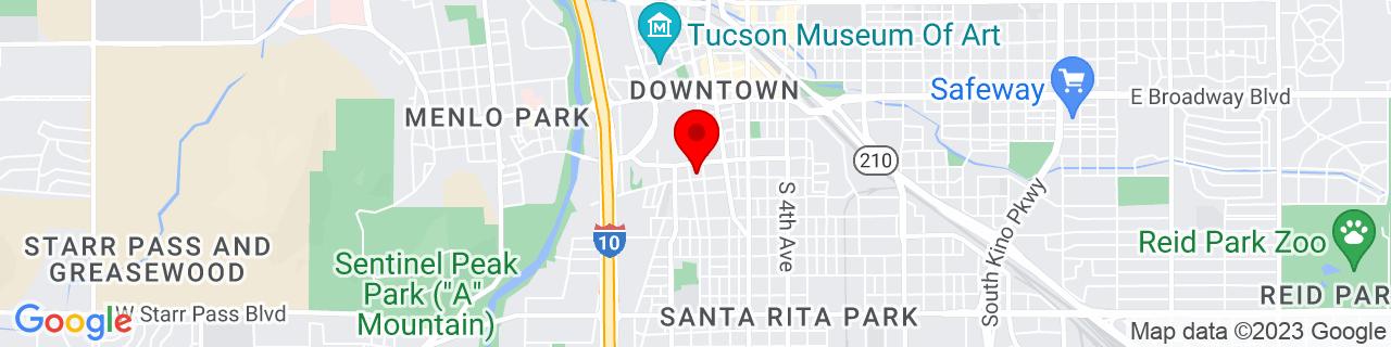 Google Map of 32.216218, -110.972666
