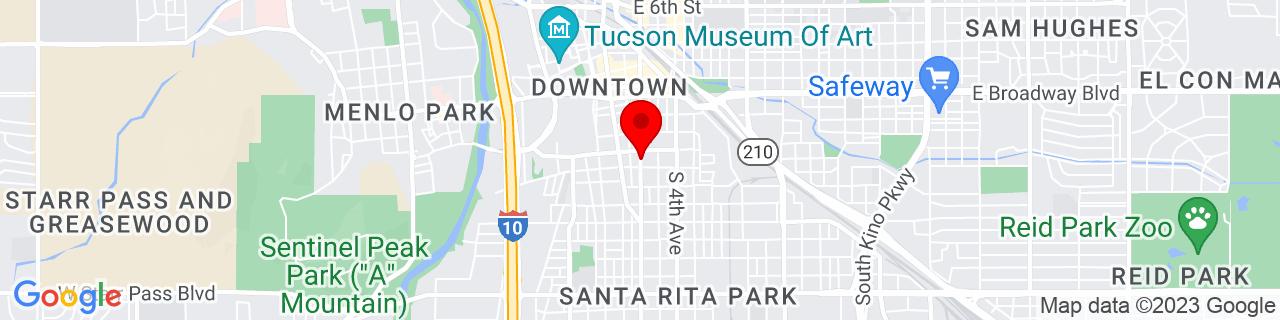 Google Map of 32.216599, -110.968551