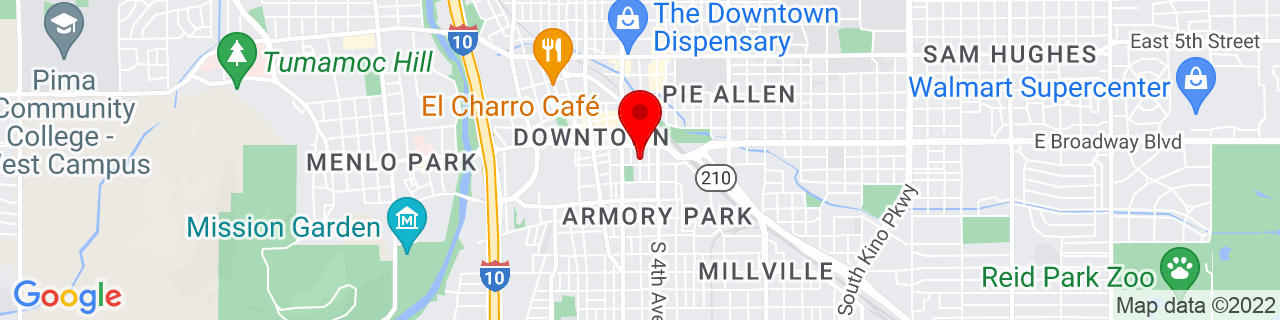 Google Map of 32.220243, -110.9670315