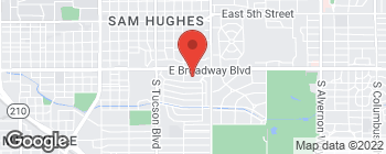 Map of 2900 E Broadway Blvd in Tucson