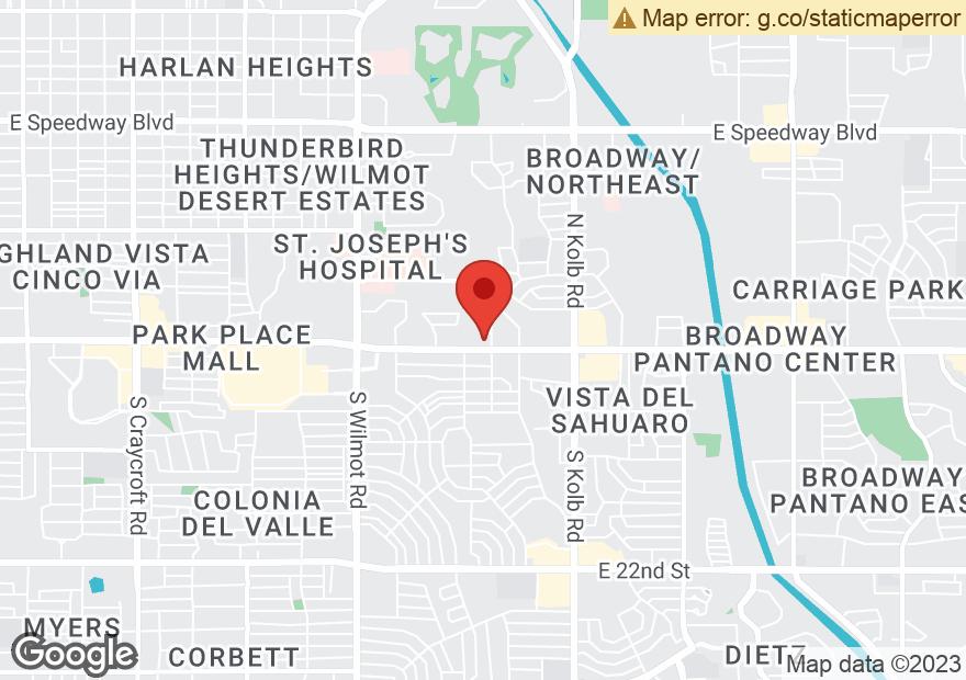 Google Map of 6767 E BROADWAY BLVD
