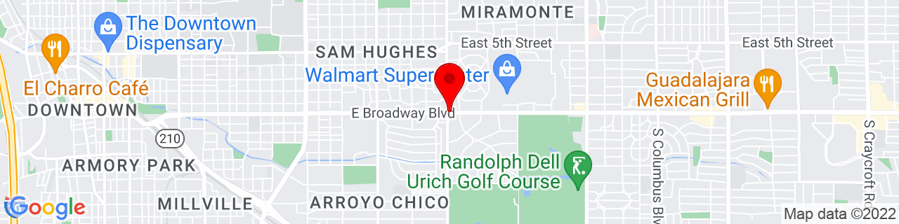 Google Map of 32.22166666666667, -110.9263888888889