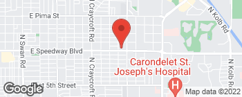 Map of 5831 E Speedway Blvd in Tucson