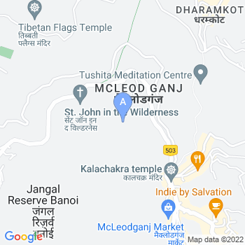 Location of McLeodganj