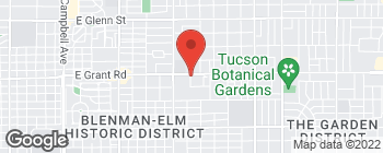 Map of 3206 E Grant Rd in Tucson