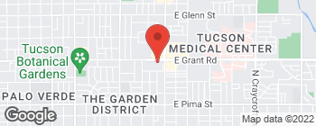 Map of 4610 E Grant Rd in Tucson