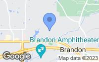 Map of Brandon, MS