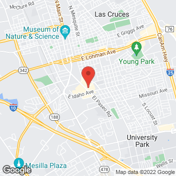 Map of Check `n Go at 1223 El Paseo Road, Las Cruces, NM 88001
