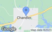 Map of Chandler, TX