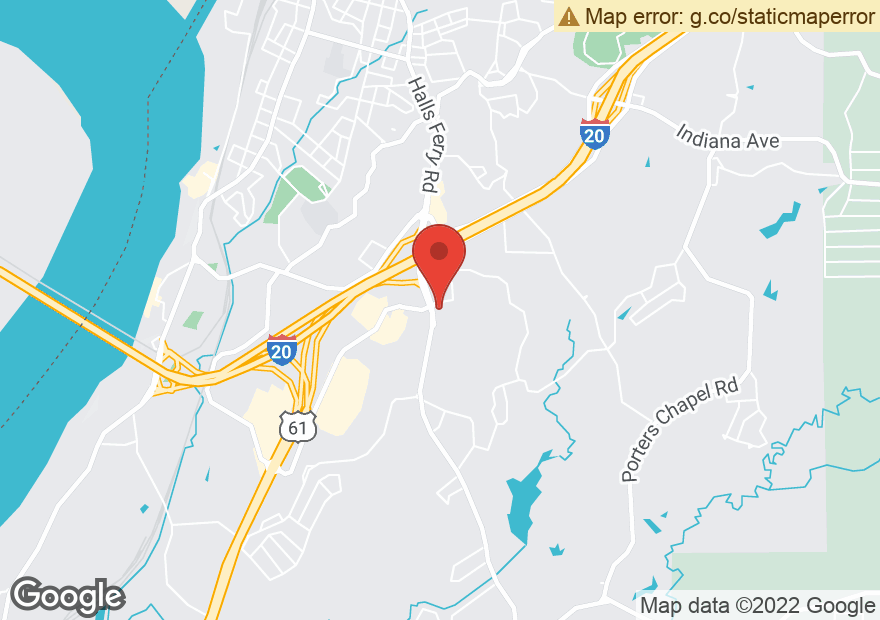 Google Map of 3341 HALLS FERRY RD