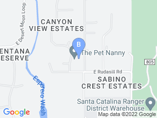 Map of The Pet Nanny In Home Pet Sitting LLC Dog Boarding options in Tucson | Boarding