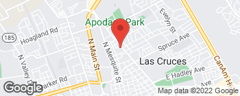 Map of 1615 N Solano Dr in Las Cruces