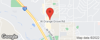 Map of 3682 W Orange Grove Rd in Tucson