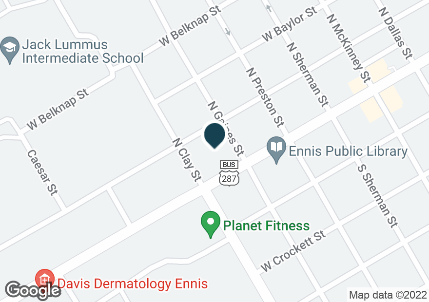 Google Map of606 W ENNIS AVE