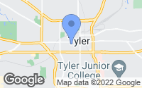 Map of Tyler, TX