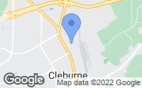 Map of Cleburne, TX