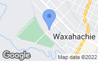Map of Waxahachie, TX