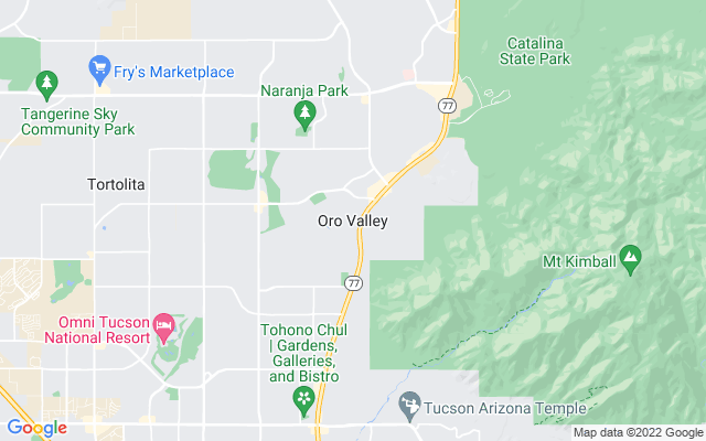 Oro Valley on the map
