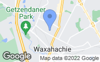 Map of Waxahachie, TX