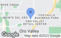 Map of Oro Valley, AZ
