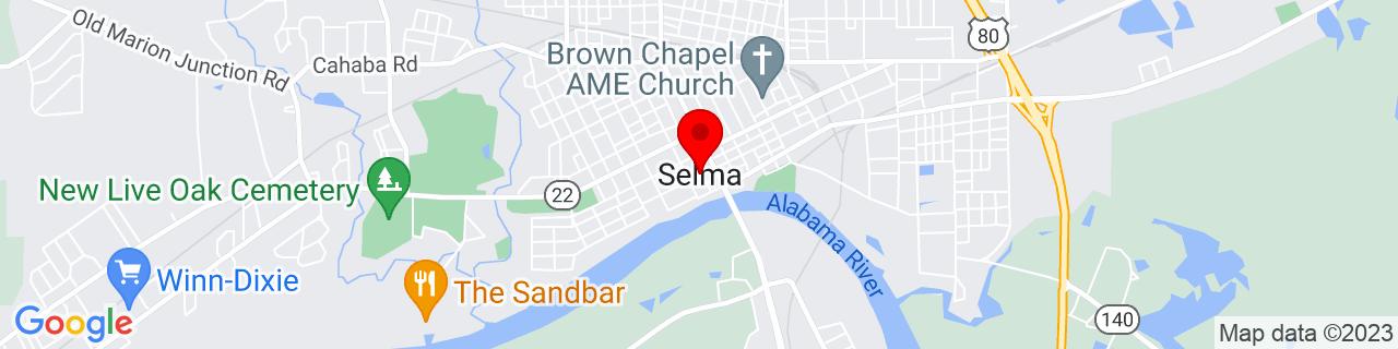 Google Map of 32.4073589, -87.02110069999999