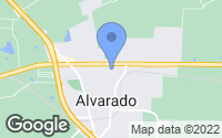 Map of Alvarado, TX