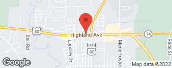 Map of 909 Highland Ave in Selma