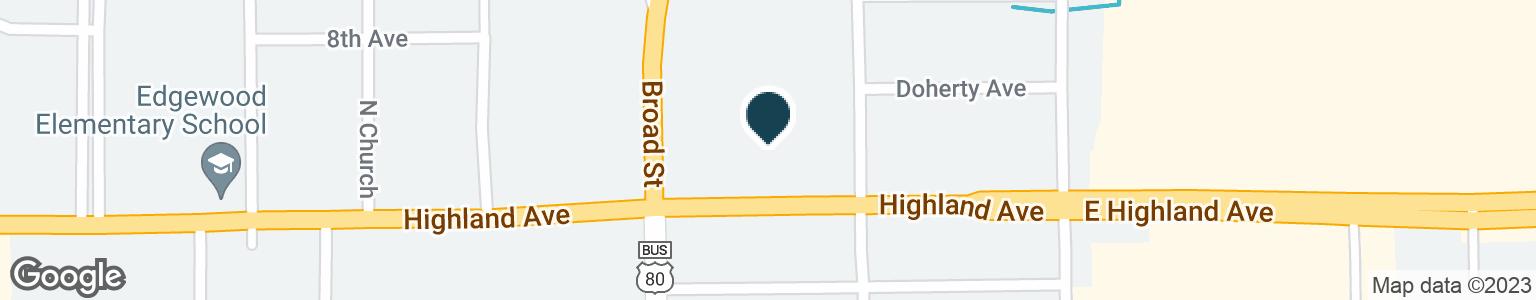 Google Map of1111 HIGHLAND AVE